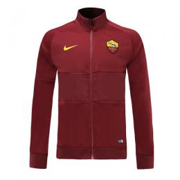 19-20 Roma Red High Neck Collar Training Jacket