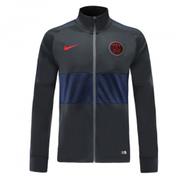 19-20 PSG Black&Navy High Neck Collar Training Jacket