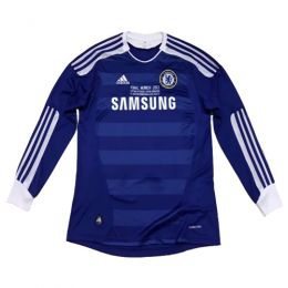 11/12 Chelsea Home Blue Retro Long Sleeve Jerseys Shirt
