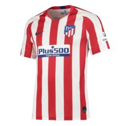 19-20 Atletico Madrid Home Red&White Soccer Jersey Shirt(Player Version)