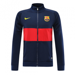 19-20 Barcelona Navy&Red High Neck Collar Training Jacket