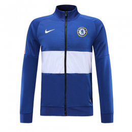 19-20 Chelsea Blue&White High Neck Collar Training Jacket