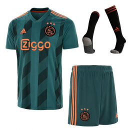 19-20 Ajax Away Green Soccer Jerseys Whole Kit(Shirt+Short+Socks)