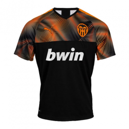 19-20 Valencia Away Black&Orange Soccer Jerseys Shirt
