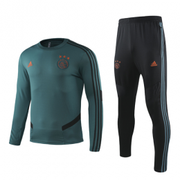 19-20 Ajax Dark Green Sweat Shirt Kit(Top+Trouser)