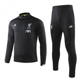 19-20 Liverpool Black Sweat Shirt Kit(Top+Trouser)