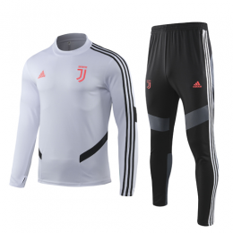 19-20 Juventus White Sweat Shirt Kit(Top+Trouser)