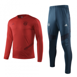 19-20 Bayern Munich Red Sweat Shirt Kit(Top+Trouser)
