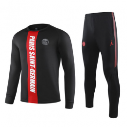 19-20 PSG Black&Red Sweat Shirt Kit(Top+Trouser)