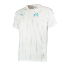 19-20 Marseille Home White Jerseys Shirt