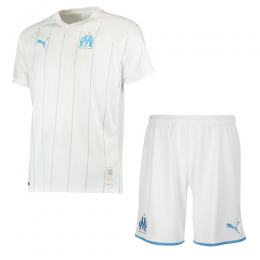 19-20 Marseille Home White Jerseys Kit(Shirt+Short)