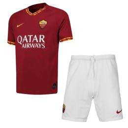 19-20 Roma Home Red Soccer Jerseys Kit(Shirt+Short)