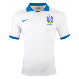 2019 Brazil Away White soccer Jerseys Shirt(Player Version)