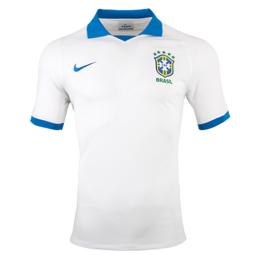 2019 Brazil Away White soccer Jerseys Shirt(Player Version)