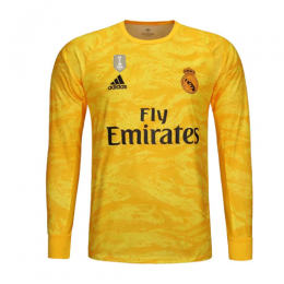 19-20 Real Madrid Goalkeeper Yellow Long Sleeve Jerseys Shirt