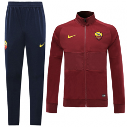 19-20 Roma Red High Neck Collar Training Kit(Jacket+Trouser)