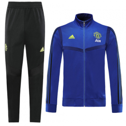 19-20 Manchester United Navy High Neck Collar Training Kit(Jacket+Trousers)