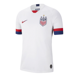 2019 USA Home Four Stars White Soccer Jerseys Shirt