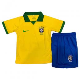 2019 Brazil Home Yellow Children's Jerseys Kit(Shirt+Short)