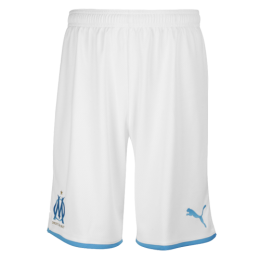 19/20 Marseilles Home White Soccer Jerseys Short