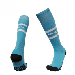 19/20 Marseilles Away Blue Soccer Jerseys Socks