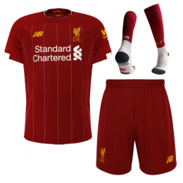19-20 Liverpool Home Red Soccer Jerseys Kit(Shirt+Short+Socks)