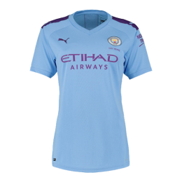 19/20 Manchester City Home Blue Women's Jerseys Shirt