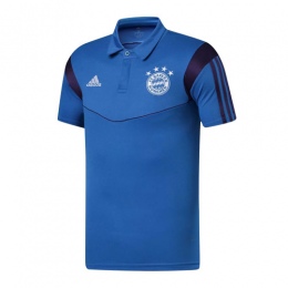 19/20 Bayern Munich Core Polo Shirt-Blue