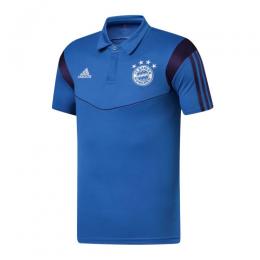 19/20 Bayern Munich Core Polo Shirt-Blue