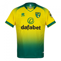 19/20 Norwich City Home Yellow&Green Soccer Jerseys Shirt