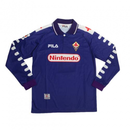 98/99 Fiorentina Home Purple Retro Long Sleeve Jerseys Shirt