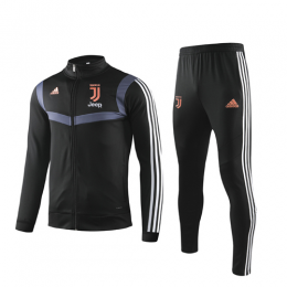 19/20 Juventus Black High Neck Collar Training Kit(Jacket+Trouser)