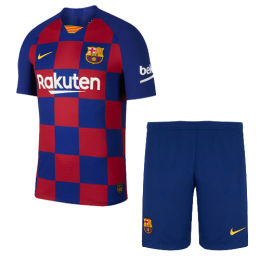 19/20 Barcelona Home Blue&Red Soccer Jerseys Kit(Shirt+Short)