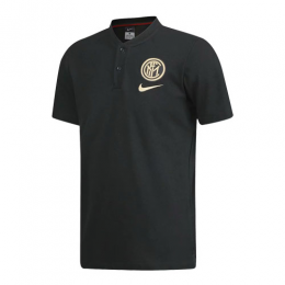 19/20 Inter Milan Black Grand Slam Polo T-Shirt