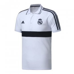 19/20 Real Madrid Core Polo Shirt-White&Navy