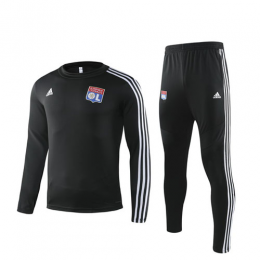 19/20 Olympique Lyonnais Black Sweat Shirt Kit(Top+Trouser)