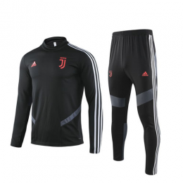 19/20 Juventus Black Sweat Shirt Kit(Top+Trouser)
