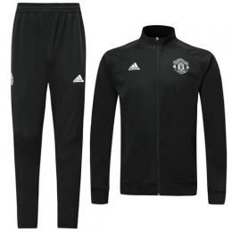 19/20 Manchester United Black High Neck Collar Player Version Training Kit(Jacket+Trouser)