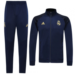 19/20 Real Madrid Navy High Neck Collar Player Version Training Kit(Jacket+Trouser)