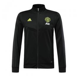 19/20 Manchester United Black High Neck Collar Training Jacket