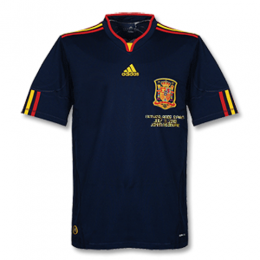 2010 Spain Away Blue Retro Soccer Jerseys Shirt