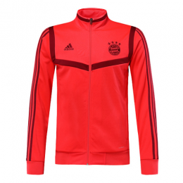 19/20 Bayern Munich Red&Dark Red High Neck Collar Training Jacket