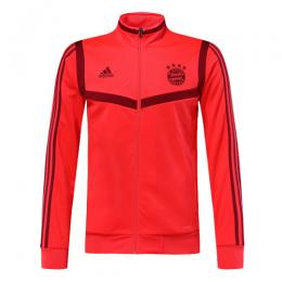 19/20 Bayern Munich Red&Dark Red High Neck Collar Training Jacket