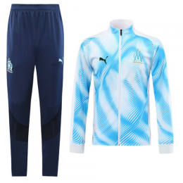 19-20 Marseilles Light Blue&White Player Version Training Kit(Jacket+Trouser)