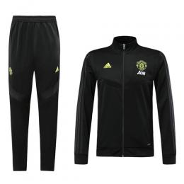 19-20 Manchester United Black High Neck Collar Training Kit(Jacket+Trouser)