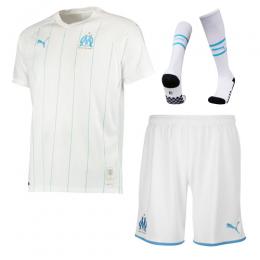 19-20 Marseille Home White Jerseys Whole Kit(Shirt+Short+Socks)