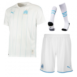 19-20 Marseille Home White Jerseys Whole Kit(Shirt+Short+Socks)
