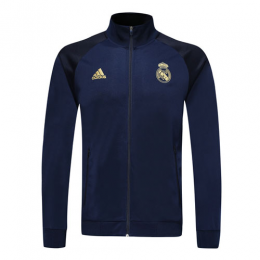 19/20 Real Madrid Navy High Neck Collar Training Jacket(Player Version)