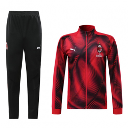 19/20 AC Milan Red High Neck Collar Player Version Training Kit(Jacket+Trouser)