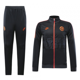 19-20 Chelsea Black&Orange High Neck Collar Training Kit(Jacket+Trouser)